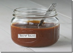 secret sauce no lable